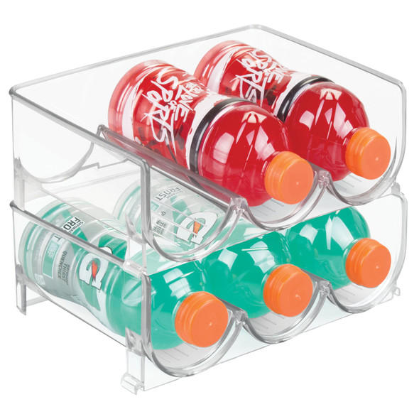 3-Bottle Water Bottle Holder Storage Organizer Rack
