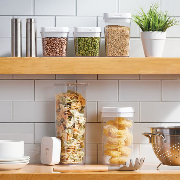Airtight Food Storage Containers with Lids - Clear/White