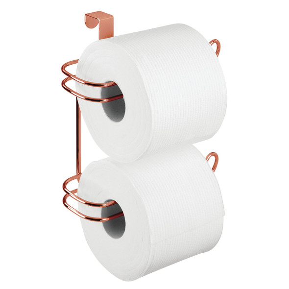 Metal Wire Over Tank Toilet Tissue Paper Roll Holder & Dispenser - 2 Rolls
