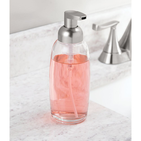 Refillable Glass Foaming Soap Dispenser Pump with Modern Design