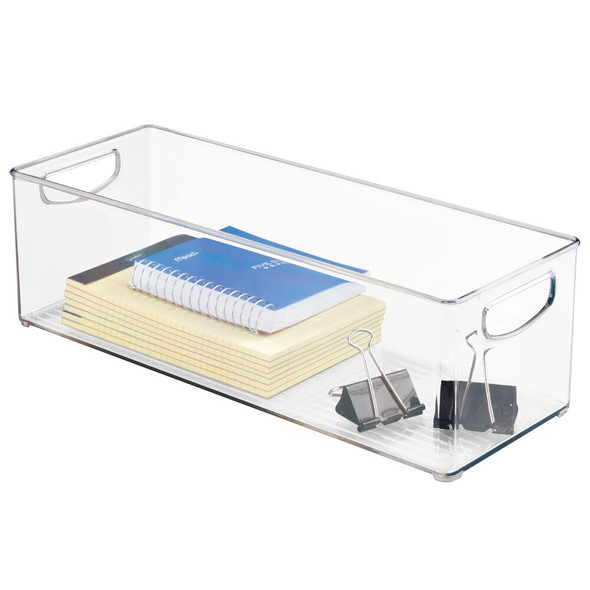 "Plastic Home Office Storage Desk Organizer Bin - 5.75"" x 16"" x 5"""