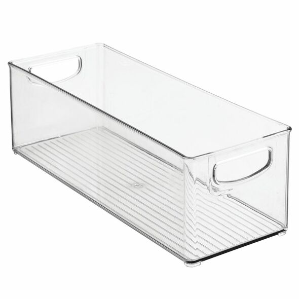 "Plastic Home Office Storage Desk Organizer Bin - 16"" x 6"" x 5"""