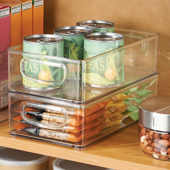 "Plastic Kitchen Pantry / Food Storage Organizer Bin - 10"" x 6"" x 3"""