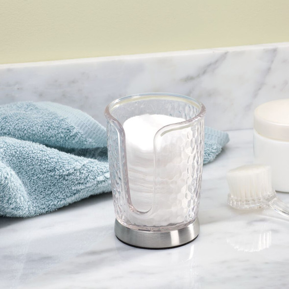 Disposable Paper Cup Dispenser Holder for Bathroom in Textured Plastic