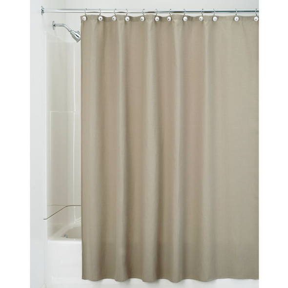 "Waffle Weave Fabric Shower Curtain - 72"" x 72"""