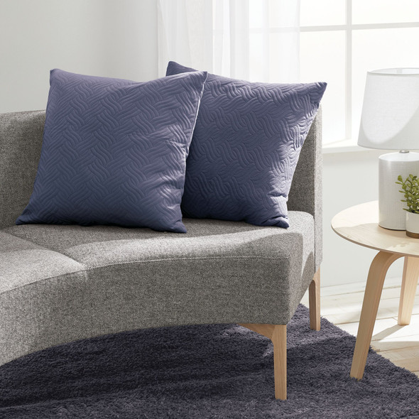 Hypoallergenic Square Throw Pillow Covers, Pack of 2