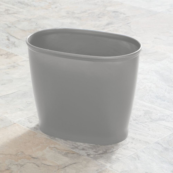 Small Plastic Oval Trash Can Garbage Bin For Bathroom