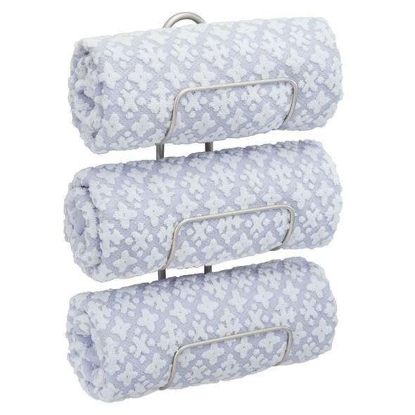 Wall Mount Bathroom Towel Holder Storage Rack - 3 Tiers