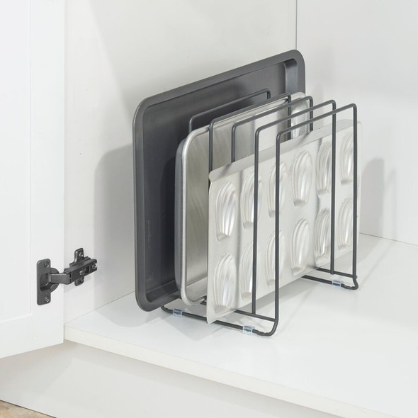 5 Compartment Metal Pot / Pan Organizer Rack for Kitchen Cabinet