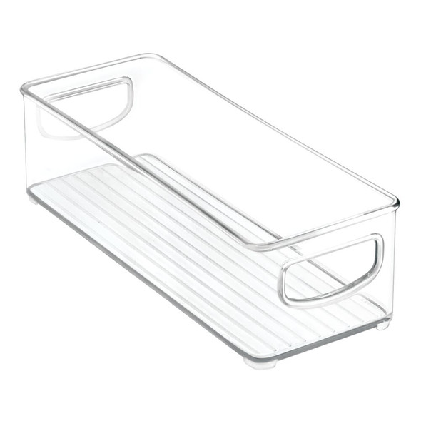 "Small - Plastic Kitchen Pantry Food Storage Bin - 10"" x 4"" x 3"""