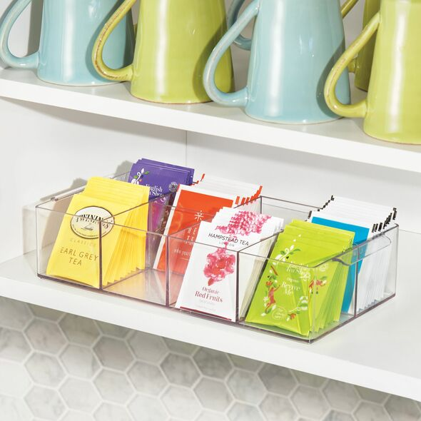 8 Compartment Tea Bag Holder and Condiment Organizer