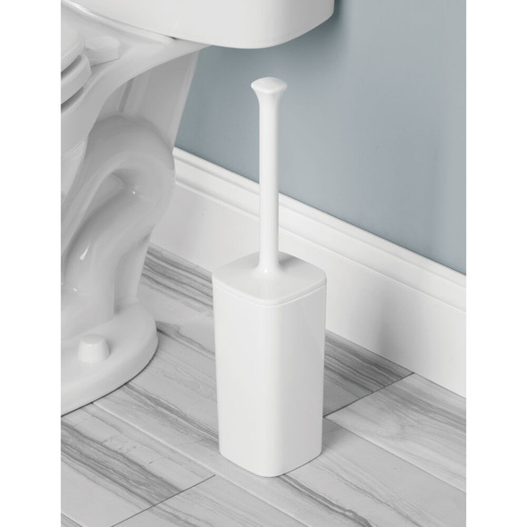 Plastic Square Compact Toilet Bowl Brush Holder
