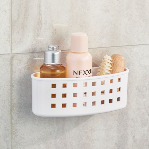 Plastic Suction Shower Caddy Storage Basket Holder