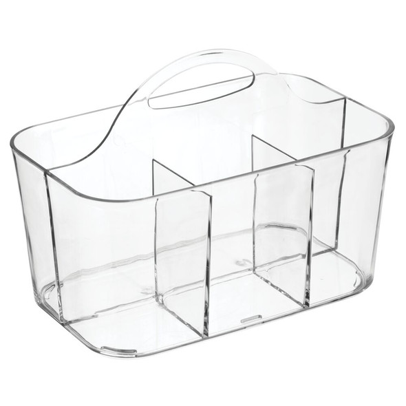 Small Plastic Men's Grooming Storage Caddy Tote