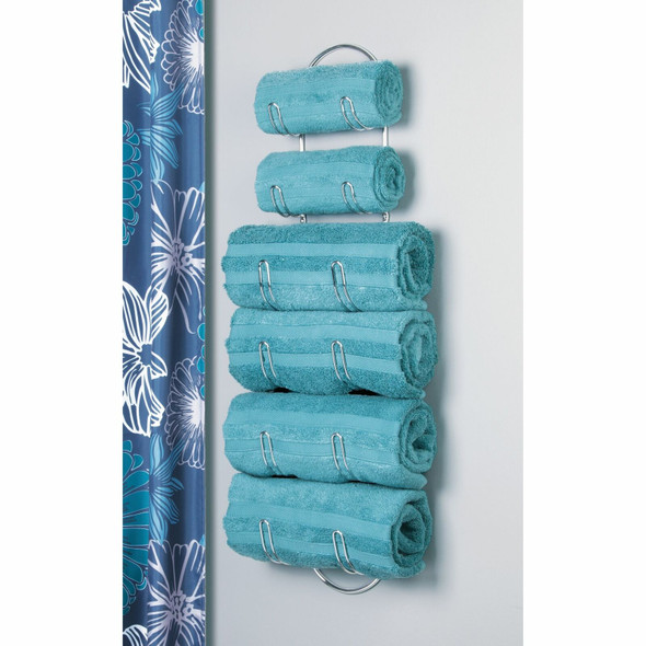 6 Tier Wall Mount Bathroom Towel Holder Storage Rack