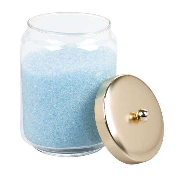 Glass Bathroom Vanity Storage Canister Jar - Large
