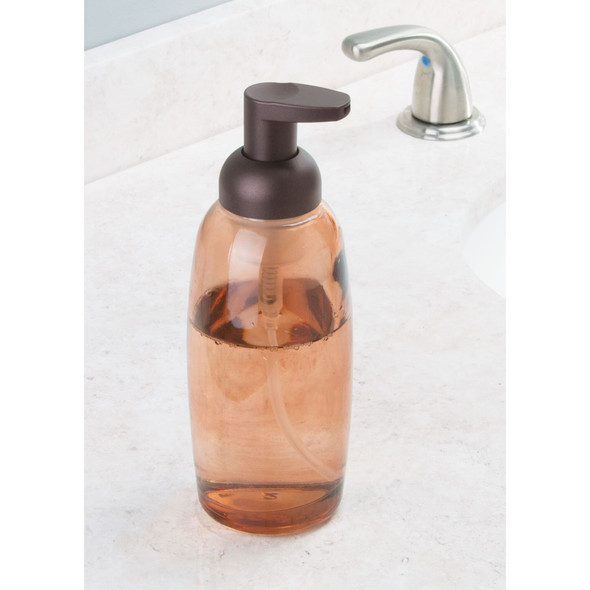Modern Glass Refillable Foaming Soap Dispenser Pump