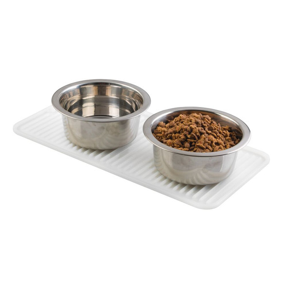 Small Silicone Pet Food and Water Bowl Mat for Cats