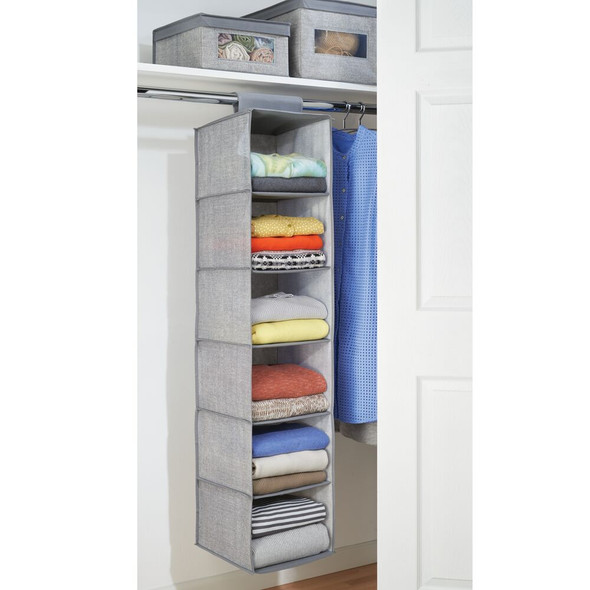 6 Shelf Fabric Hanging Closet Storage Organizer
