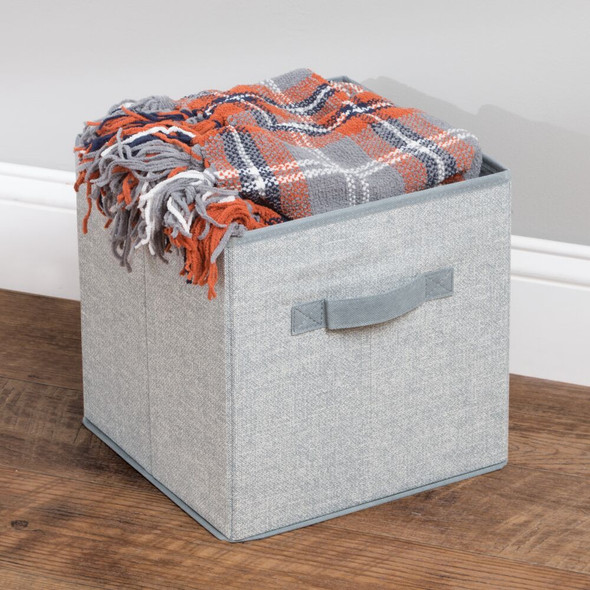 """Collapsible Fabric Cube Storage Bin with Handle - 10.5"""" x 10.5"""" x 11"""""""