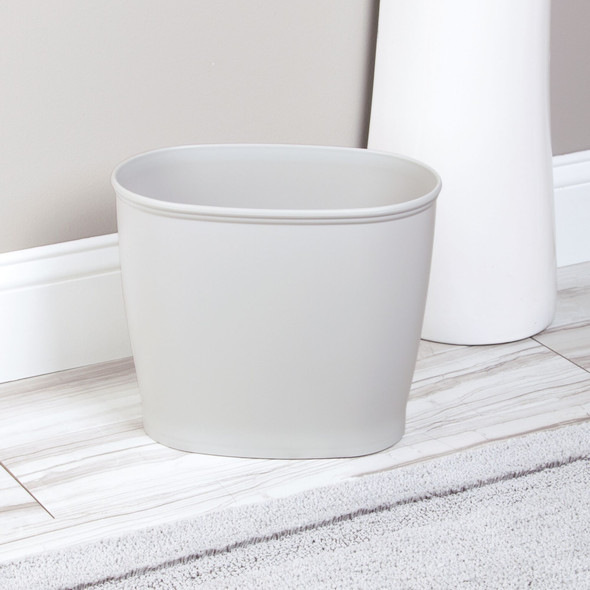 """Small Modern Plastic Oval Trash Can - 10"""" High"""
