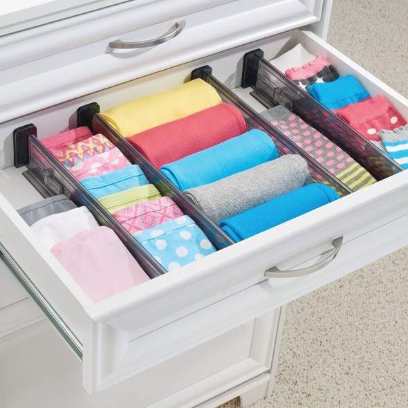 Plastic Expandable Dresser Drawer Dividers