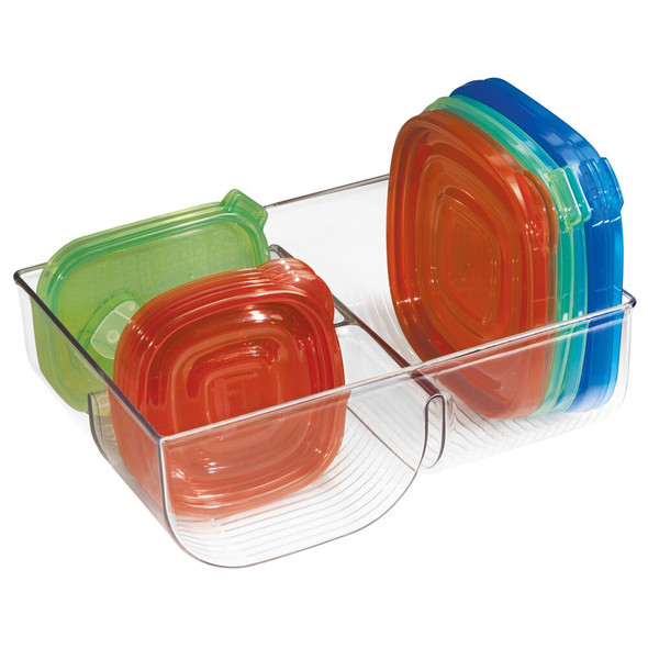 "Plastic Kitchen Food Container Lid Organizer - 11"" x 7.75"" x 3.75"""