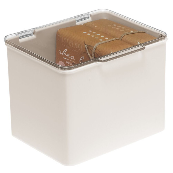 Small Plastic Bathroom Storage Box for Vitamins & First Aid Supplies