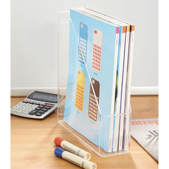 "Office Desk Organizer Magazine File Holder Bin - 10"" x 3"" x 10.7"""