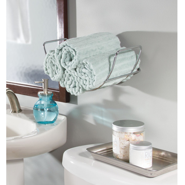 Curved Wall Mount Bathroom Towel Holder Storage Rack