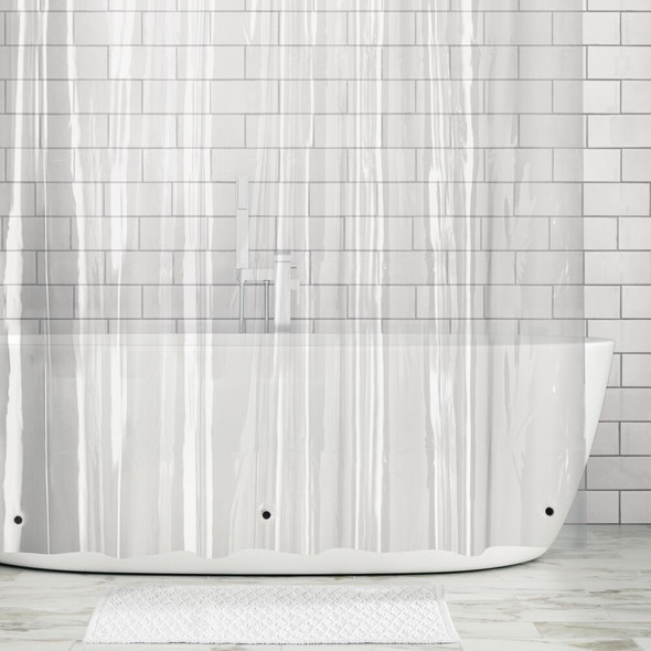 "LONG Vinyl Shower Curtain Liner for Bath, 72"" x 84"""