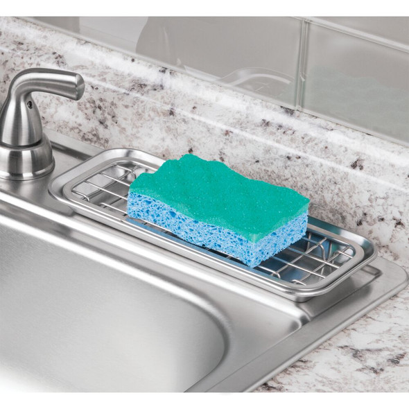 Long Metal Kitchen Sink Tray, Soap Dish / Sponge Holder