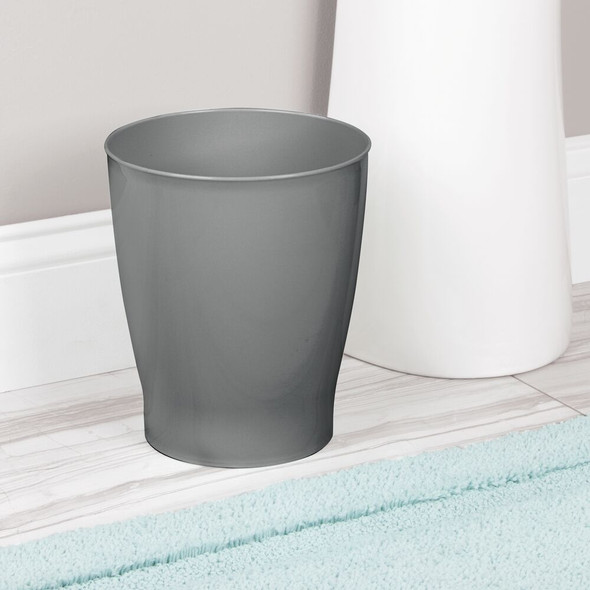 Small Slim Plastic Round Trash Can Garbage Bin