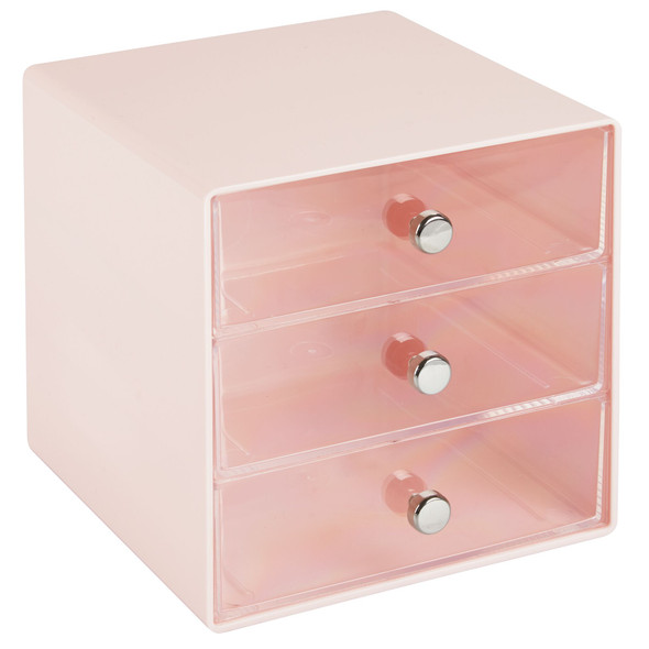 3 Drawer Plastic Makeup Cosmetic Storage Organizer