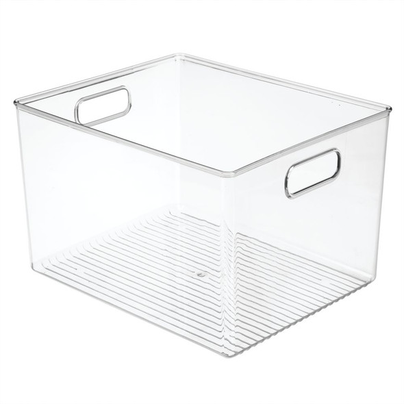 "Plastic Bedroom Closet Storage Organizer Bin - 12"" x 10"" x 8"""