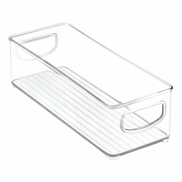 "Small Plastic Home Office Desk Organizer Bin - 10"" x 4"" x 3"""