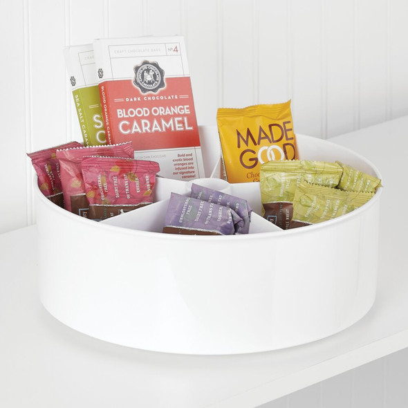 "Plastic Kitchen Pantry Lazy Susan Turntable Storage - 11.5"" Diameter"