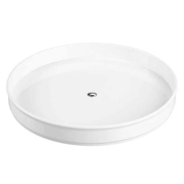 "Plastic Lazy Susan Turntable for Bathroom Storage - 9"" Round"