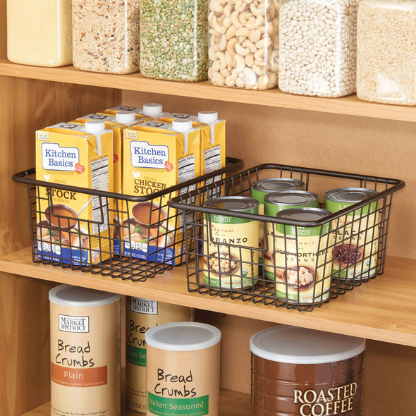 Small Metal Wire Kitchen Pantry Food Storage Basket
