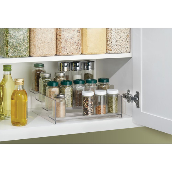 4 Tier Plastic Spice Rack Caddy Kitchen Food Storage Rack