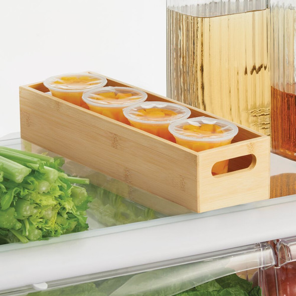 "Slim Bamboo Kitchen Drawer Organizer Storage Tray - 14.5"" x 4.6"" x 3"""