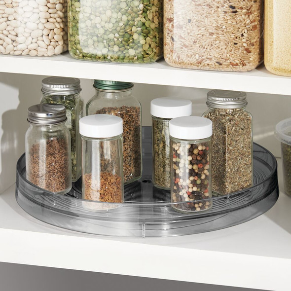 "Plastic Kitchen Pantry Lazy Susan Turntable Storage - 11.25"" Diameter"