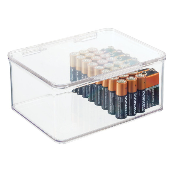"""Small Stackable Battery Storage Box - 5.6"""" x 6.7"""" x 3"""""""