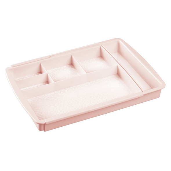 Expandable Plastic Cosmetic Drawer Organizer Tray