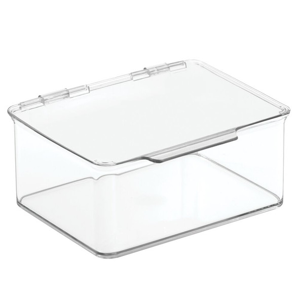 "Small Plastic Desk Organizer Box Bin for Home Office - 5.6"" x 6.7"" x 3"""