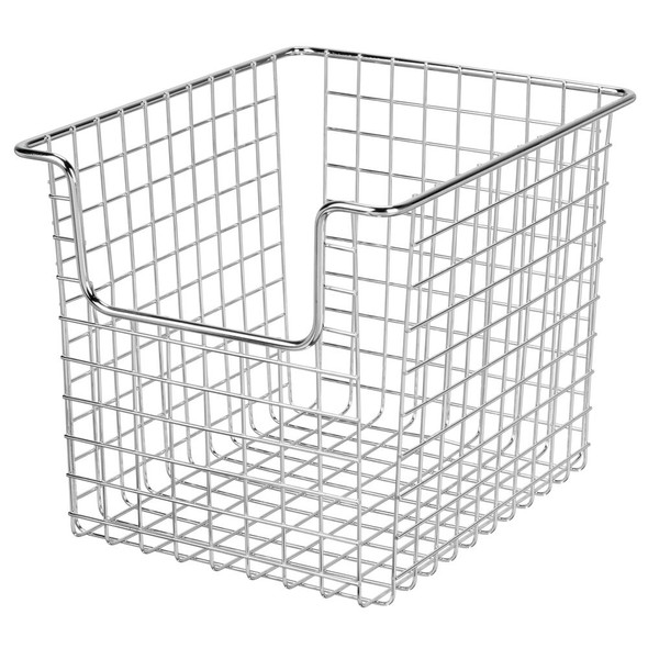 "Wire Kitchen Pantry Food Storage Basket - 10"" x 8"" x 7.75"""