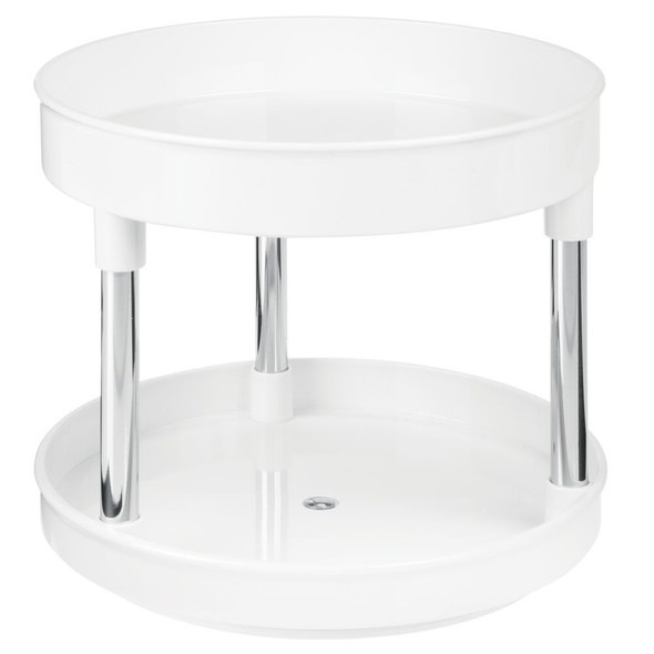 2-Tier Lazy Susan Turntable for Bathroom Storage