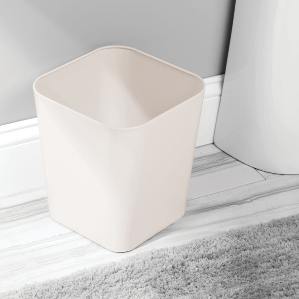 Small Modern Metal Square Trash Can Garbage Bin