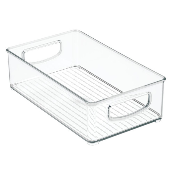 "Plastic Home Office Storage Organizer Bin - 10"" x 6"" x 3"""