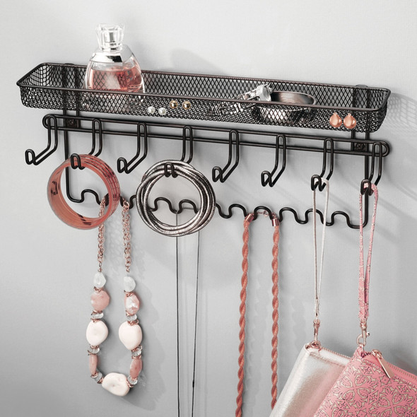 Wall Mount Hanging Accessory Storage Organizer